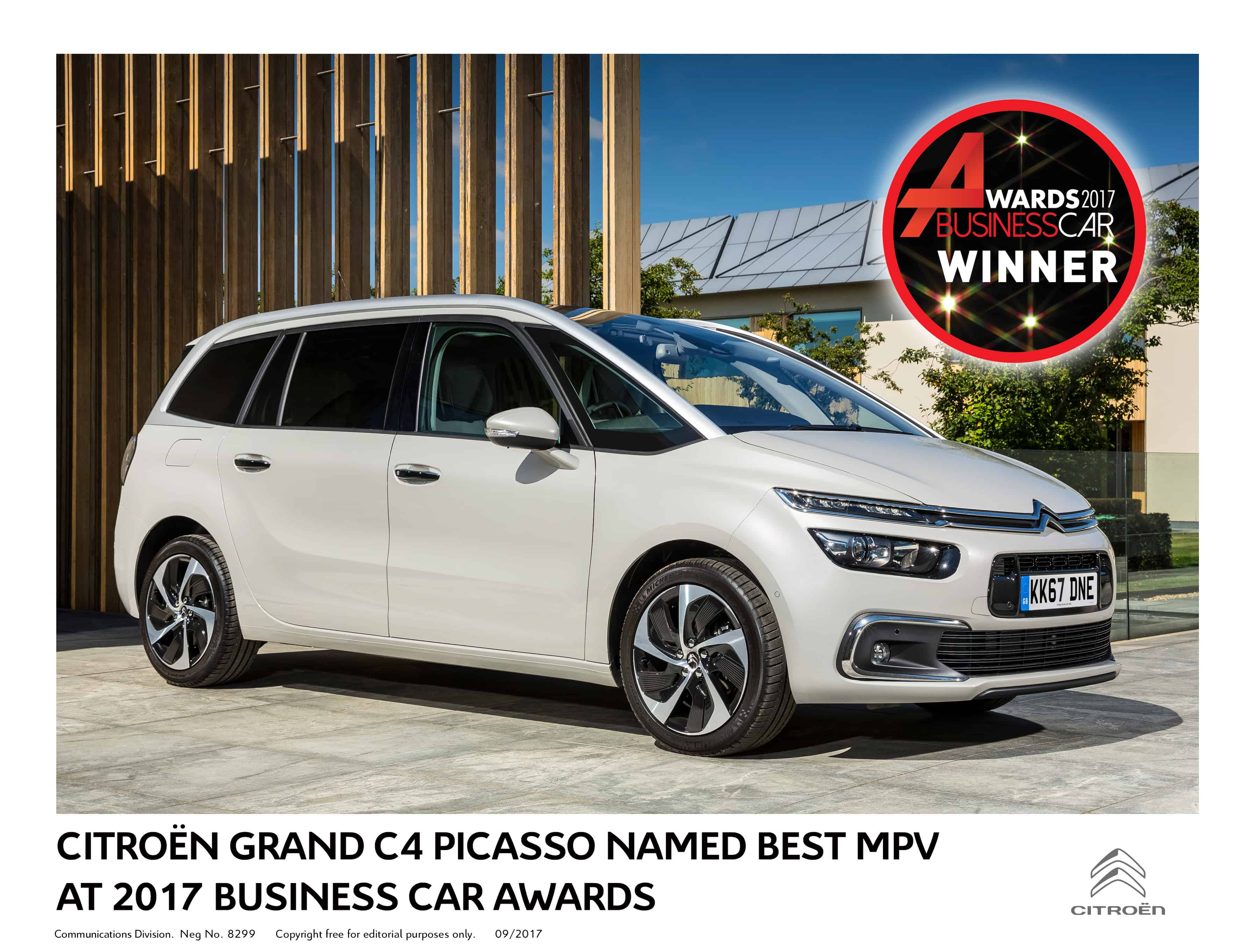 Citroen Grand C4 Picasso Named Best MPV at 2017 Business Car Awards