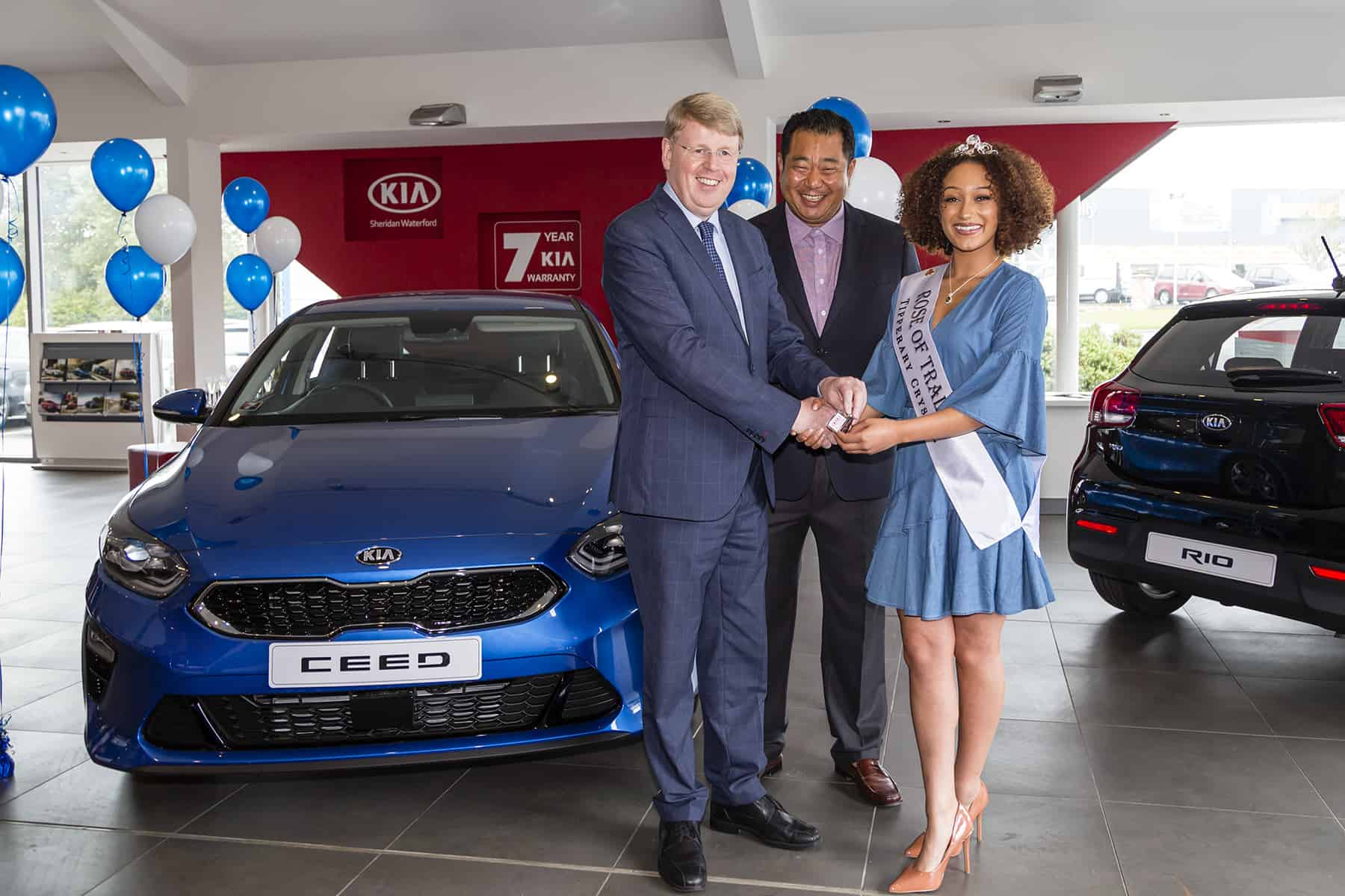 The Rose of Tralee collects her new KIA Ceed