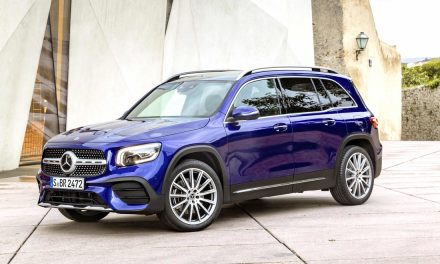 The new Mercedes-Benz GLB compact SUV to make its debut at the Frankfurt International Motor Show.