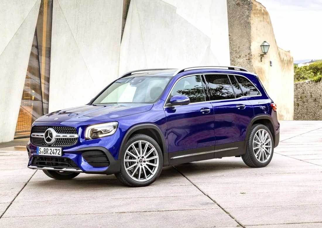 The new Mercedes-Benz GLB compact SUV which debuts at the forthcoming Frankfurt International Motor Show.