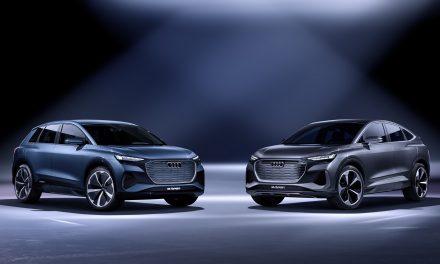 The Audi Q4 Sportback e-tron concept is revealed.