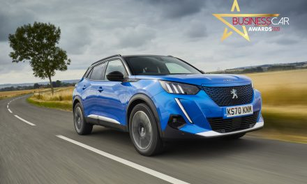 The all-new PEUGEOT e-2008 wins 'Best Electric Car' award at the Business Car Awards.