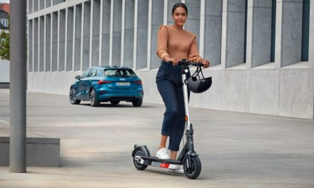 Audi's Electric Kick Scooter Powers Ahead.