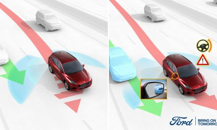 NEW FORD TECH STEERS DRIVERS AWAY FROM BLIND SPOT SIDE-SWIPES.