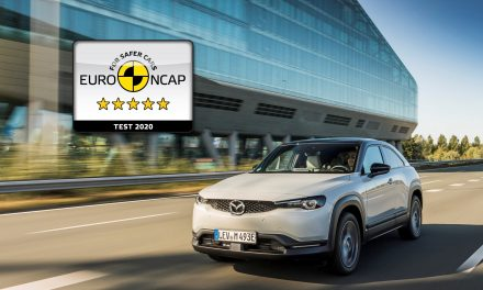 MAZDA MX-30 ACHIEVES FIVE STAR EURO NCAP RATING.