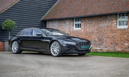 Rare million-dollar Aston Martin Lagonda luxury saloon available at Nicholas Mee.