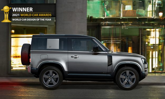 LAND ROVER DEFENDER CROWNED 2021 WORLD CAR DESIGN OF THE YEAR.